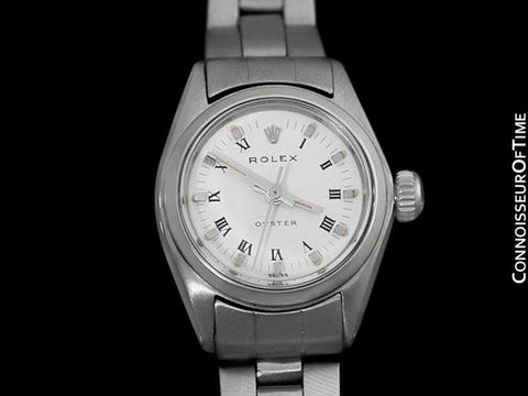 1966 Rolex Oyster Precision Classic Vintage Ladies Handwound Watch, Stainless Steel