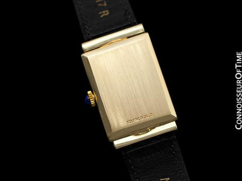1980's Tiffany & Co. Vintage Mens Dress Watch - 14K Gold