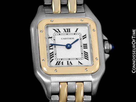 Cartier Panthere Panther Ladies Watch, Ref. 1120 - Stainless Steel & 18K Gold - W25029B6