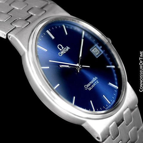 1984 Omega Seamaster Classic Vintage Retro Mens Quartz Watch, Date - Stainless Steel