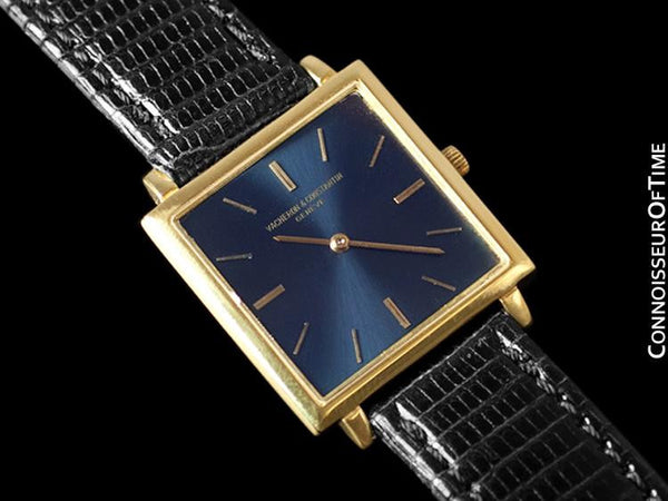 "1960's Vacheron & Constantin ""Extra-Flat"" Vintage Mens Midsize Square Watch - 18K Gold"