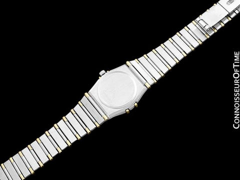 Omega Ladies Constellation Mini 22mm Watch, White Dial, 18K Gold & Stainless Steel