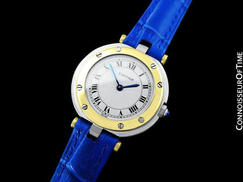 Cartier Santos Vendome Ladies Quartz Watch - Stainless Steel & 18K Gold