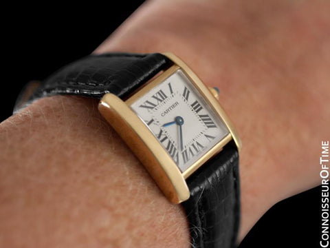 Cartier Ladies Tank Francaise Watch - 18K Yellow Gold - W5000256