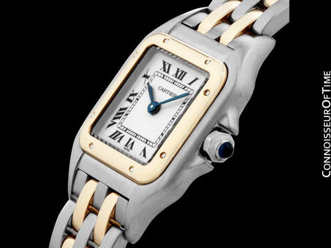 Cartier Panthere Panther Ladies Watch, Ref. 1120 - Stainless Steel & 18K Gold - W25028B