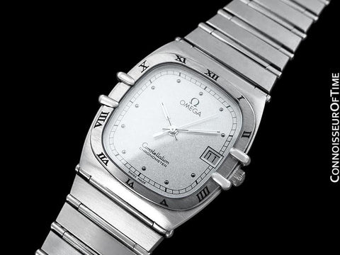 Omega Constellation Chronometer Mens Bracelet Watch, Quartz, Date- Brushed Stainless Steel