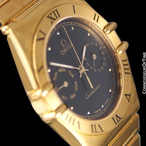 Omega Constellation Mens 35mm, Quartz, Day-Date - 18K Gold Plated & Stainless Steel