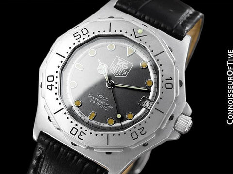 TAG Heuer 3000 Mens Full Size Quartz Divers Watch, 932.206 - Stainless Steel