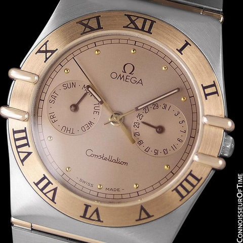 Omega Constellation Mens 35mm, Quartz, Day-Date, Full Bar - Stainless Steel & 18K Gold