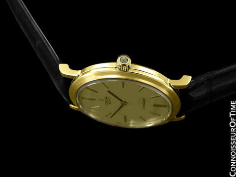 1980 Omega Constellation Mens Vintage Quartz Watch - 18K Gold Plated & Stainless Steel