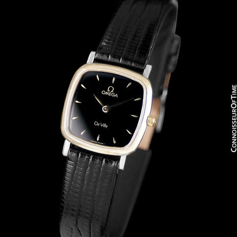 Omega De Ville Ladies Watch - Solid 18K Gold & Stainless Steel