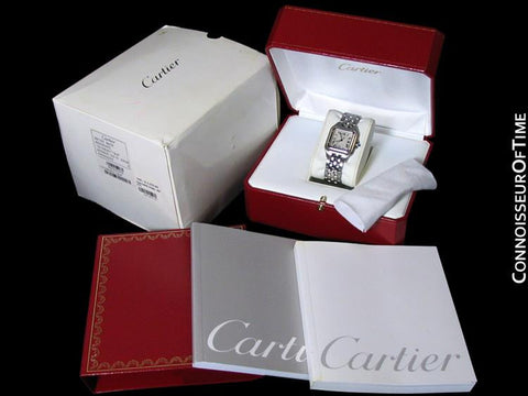 Cartier Panthere Mens Midsize / Unisex Watch, Date, Stainless Steel - W25054P5