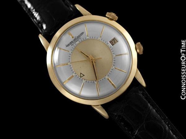 1960's Jaeger-LeCoultre Vintage Mens Memovox Alarm Reveil, Automatic - 18K Gold Plated & Stainless Steel