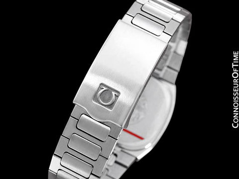 1980 Omega Seamaster Classic Vintage Mens Gray Dial Quartz Watch, Date - Stainless Steel