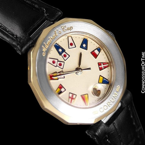 Corum Admiral's Cup Ladies Nautical Watch - Solid 18K Gold & Stainless Steel