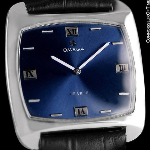1970 Omega De Ville Full Size Mens Retro Ultra Thin TV Watch - Stainless Steel