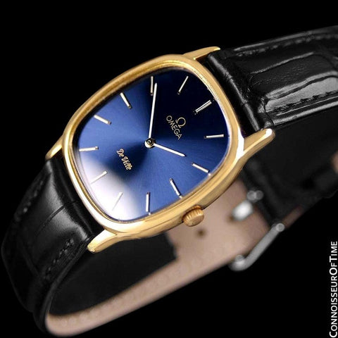 1979 Omega De Ville Vintage Mens Handwound Ultra Thin Dress Watch - 18K Gold Plated & Stainless Steel