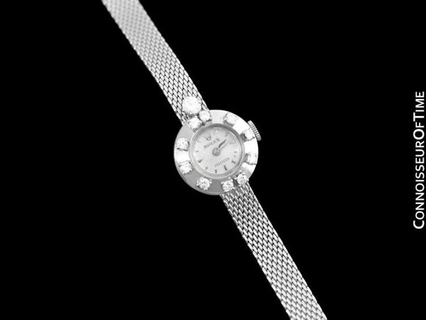 1961 Rolex Ladies Vintage Dress Bracelet Watch with Papers - 18K White Gold & Diamonds