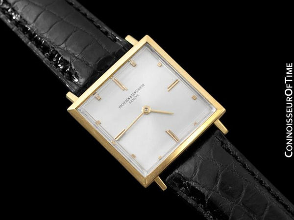 1967 Vacheron & Constantin Vintage Mens Retro Square Cal. K1001 Watch - 18K Gold