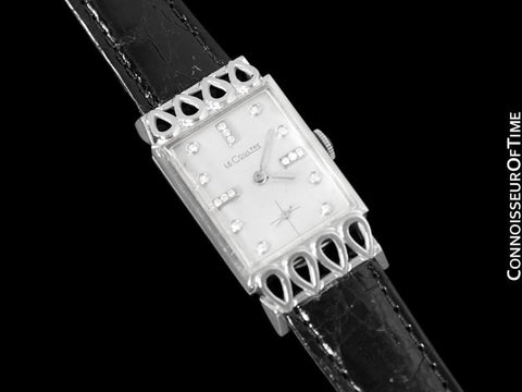 1956 Jaeger-LeCoultre Vintage Mens Watch, 18K White Gold & Diamonds - The Lowell