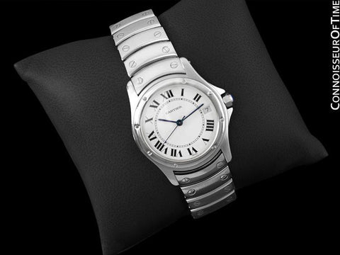 Cartier Santos Ronde Mens Watch, Automatic - Stainless Steel