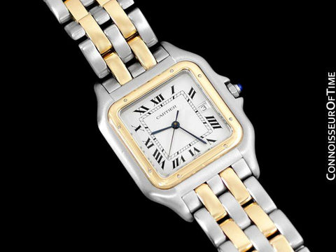 "Cartier Panthere Two-Tone Mens ""Jumbo XL"" Watch, Date - Stainless Steel & 18K Gold"