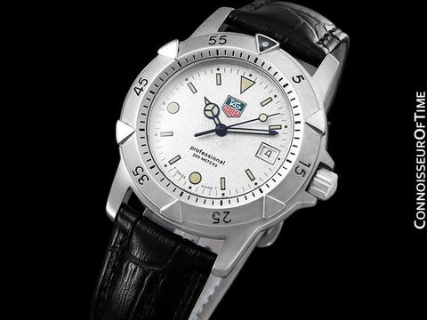 TAG Heuer Professional 1500 Mens Full Size Diver Granite Dial Watch - Stainless Steel - 955.713G-2