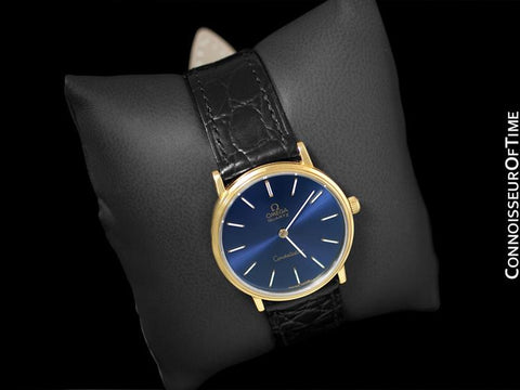 1979 Omega Constellation Mens Vintage Quartz Watch - 18K Gold Plated & Stainless Steel