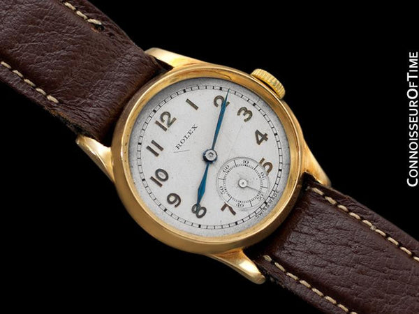 c. 1940 Rolex Vintage Boys Size Midsize Watch - Solid 18K Gold