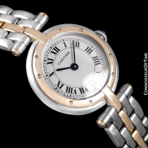 Cartier Panthere VLC Vendome Ladies Watch - Stainless Steel & 18K Gold