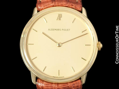 Audemars Piguet Round Midsize Mens Dress Watch - 18K Gold