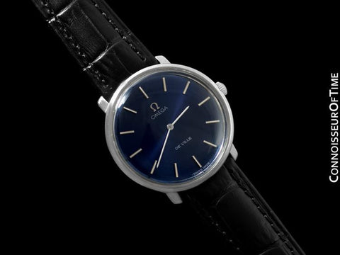 1980's Omega De Ville Vintage Mens Handwound Dress Watch - Stainless Steel