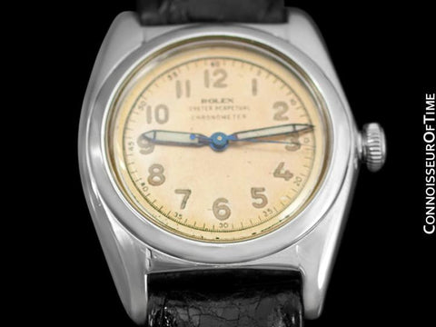 1948 Rolex Vintage Mens Bubble Bubbleback, Ref. 5010, Stainless Steel - Very Fine & Rare