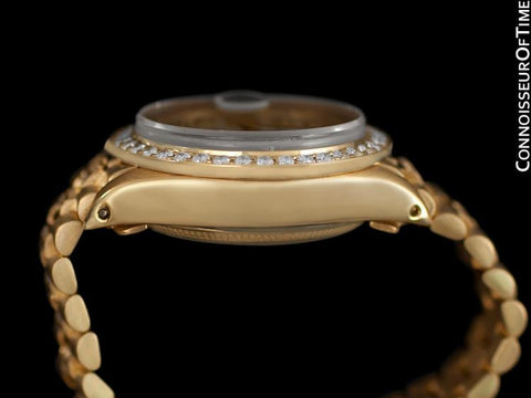 Rolex Ladies Super President Diamond Datejust - 18K Gold