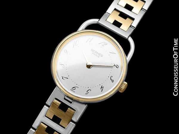 Hermes Arceau Ladies Watch - 18K Gold Plated & Stainless Steel