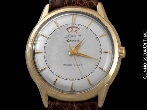 1957 Jaeger-LeCoultre Master Mariner Vintage Mens Watch with Power Reserve - 10K Gold-Filled & Stainless Steel