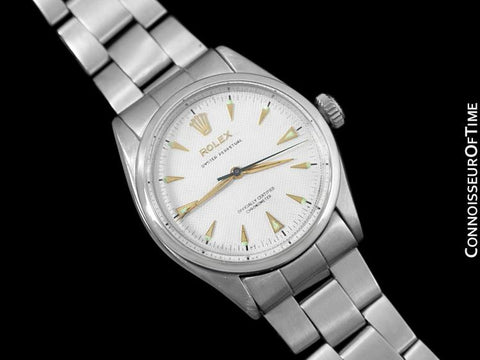 1954 Rolex Oyster Perpetual Vintage Ref. 6284 Mens Watch with Bubbleback - Stainless Steel
