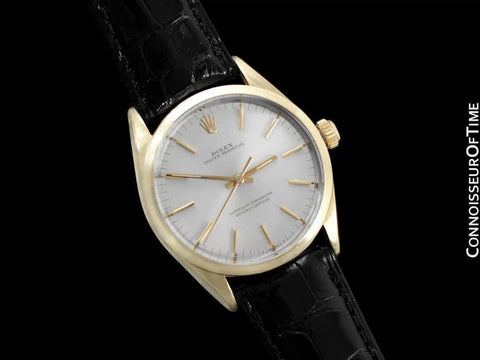1964 Rolex Oyster Perpetual Vintage Mens Watch - 14K Gold & Stainless Steel