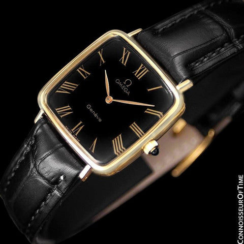 1977 Omega Geneve Vintage Midsize Handwound Ultra Slim Watch - 18K Gold Plated & Stainless Steel