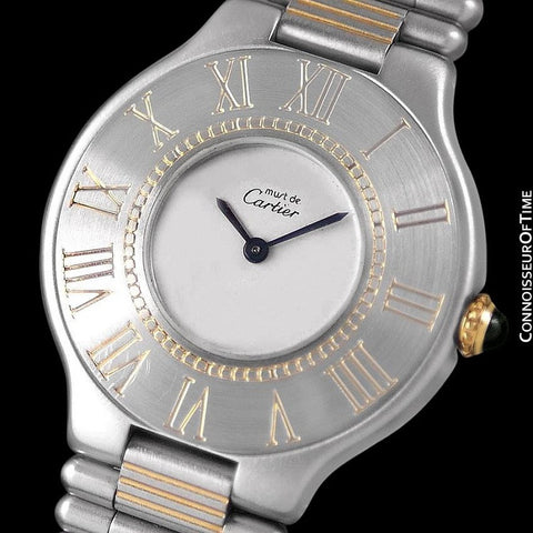 Cartier Must De 21C Mens Midsize Unisex Watch - Stainless Steel & 18K Gold