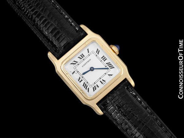 Cartier Santos Dumont Vintage Mens Midsize Ultra Thin Watch - 18K Gold