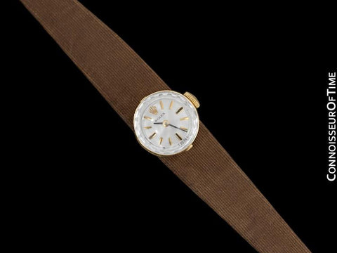 1960's Rolex Vintage Ladies Watch with Interchangeable Bands, 14K Gold - The Chameleon