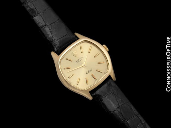 1976 Rolex Cellini Ladies Vintage Dress Watch Ref. 3801, Champagne Dial - 18K Gold
