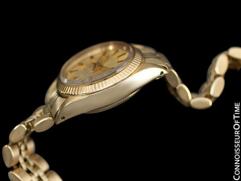 Rolex Ladies Oyster Perpetual Champagne Dial Ref. 6719 - 14K Gold
