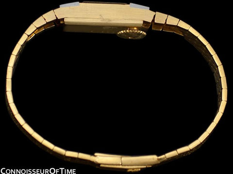 1950's Audemars Piguet Rare Vintage Ladies Backwind Watch - 18K Gold & Diamonds