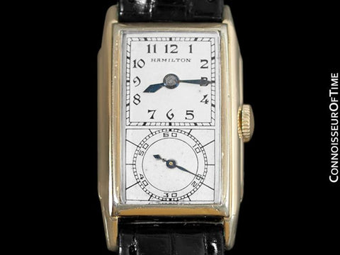 1935 Hamilton Seckron Vintage Duo Dial 14K Gold Filled Mens Watch - Doctor's Watch