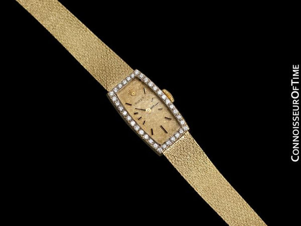 1980's Rolex Ladies Vintage Dress Bracelet Watch - 14K Gold & Diamonds