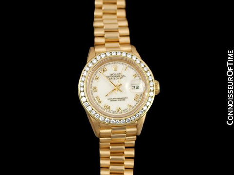 Rolex Ladies President Datejust, 69178 - 18K Gold & Diamonds