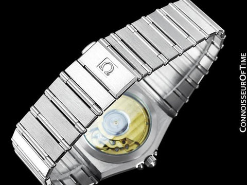 Omega Constellation Manhattan Mens Large Chronometer Watch, Automatic, Date - Brushed Stainless Steel
