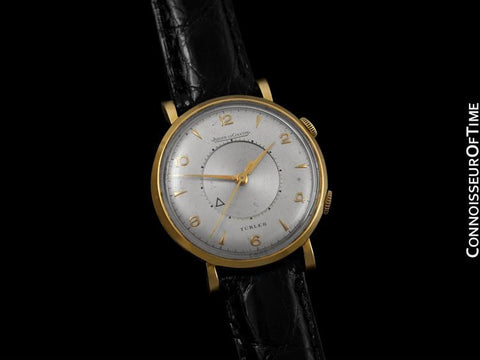 1955 Jaeger-LeCoultre Memovox Alarm Reveil Retailed by Turler - Solid 14K Gold & Stainless Steel